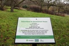 Naturehood sign in the Woodlands